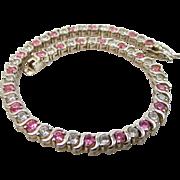 Nice Sterling Silver Tennis Bracelet