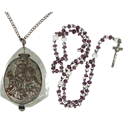 1930's Glass Cased Miniature Rosary