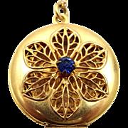 Unusual Miraculous Medal Filigree Locket