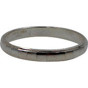 950 Sterling Milor Italy Stacking Ring Size 10 1/4