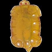 Applejuice Bakelite Figural Turtle Tortoise Pin Clip