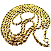 "Thick and Heavy 20"" & 30"" Gold Filled Rope Necklaces"
