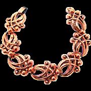RENOIR Solid Copper Abstract 1940's Bracelet