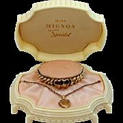 Miss Mignon Speidel Child's Bracelet & Matching Necklace with Original Jewelers Bo