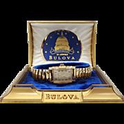 1953 Bulova 21 Jewel President Watch with Original Box Near Mint Condition
