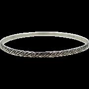 Danecraft Felch Co. Art Deco Bangle Bracelet
