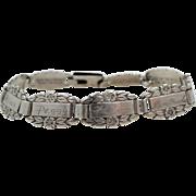 WWII Sterling Silver Sweetheart Friendship Bracelet Forget-Me-Not