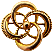 Victorian 10k Gold Love Knot Pin