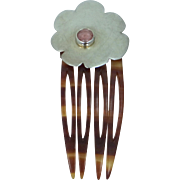 ELIZ deBORAH Sterling Silver & Rhodonite Hair Comb