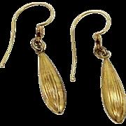 Victorian 10k Gold Dangle Earrings