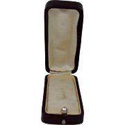 Victorian Satin and Velvet Interior Presentation Stickpin Box