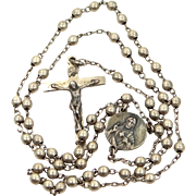 1950 Sterling Silver Man's Rosary