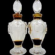 "2 Christian Dior ""Miss Dior"" Glass Perfume Bottles"
