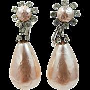 Pretty Faux Baroque Pearls Dangle Earrings
