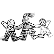 """Sterling Silver """"Save the Children"""" Pin"""