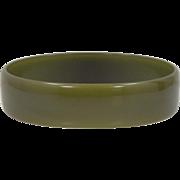 Translucent Green Bakelite Bangle Bracelet
