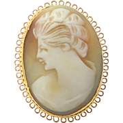 Vendome Carved Natural Shell Cameo Ring