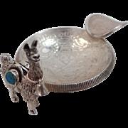 Vintage Silver Peru Coins & Llama Souvenir Ashtray