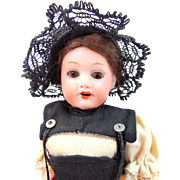 "Armand Marseille Cute German 390 6 1/2"" Bisque & Composition Doll"