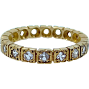 Victorian 9k Pale Rose Gold Paste Eternity Band