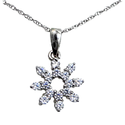 10k White Gold Snowflake Necklace