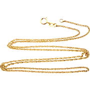 """10k Gold 20"""" Long Chain Necklace"""