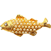 Ciner Figural Fish Pin