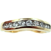 14k Gold 0.65tcw Diamonds Wedding Band Stacking Ring