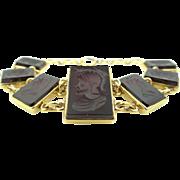 1930's Intaglio Carved Carnelian Bracelet