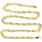 "14k Gold Unusual Links 20"" Long Necklace"