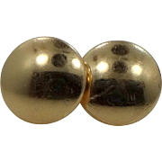 14k Gold Vintage Disk Earrings