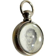 1940's Photo Charm with Bubble Glass Inserts