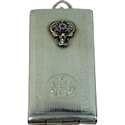 1930's Sterling Silver B.P.O.E. Elks Club Stamp Case Fob