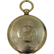 Victorian Gold Fld. Pocket Watch Shaped Locket with Pictures