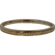 Pretty Vintage Rolled Gold Bangle Bracelet with Unusual Pattern