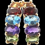 10k Gold and Gemstones Earrings
