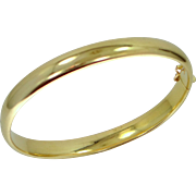 14k Gold Bangle Bracelet 10.8 Grams