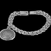 Designer Signed GARCIA Mexico Sterling Bracelet with Charm
