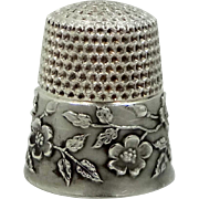 Vintage Solid Sterling Silver Ketcham & McDougal mKd Dogwood Flower Thimble