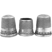 3 Vintage Sterling Silver Thimbles Ketcham & McDougal, Simons and Tailor