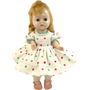 1950's Cosmopolitan Ginger Doll in Playtime Series Outfit with Stand