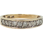14k Gold 10 Diamond Stacking Ring Wedding Band