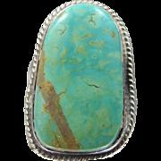 Navajo Artist Tom Ahasteen Sterling Silver & Turquoise Ring