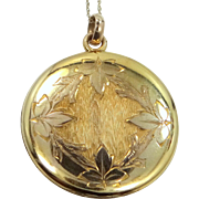 Victorian 10k Solid Gold Locket with Chain