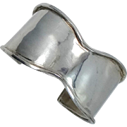 Solid Sterling Silver BOO BUG Abstract Cuff Bracelet