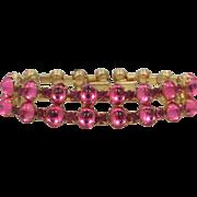 Vendome Pink Cabochons Bracelet
