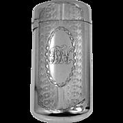 1860's Gorham Sterling Silver Vesta Case or Match Safe