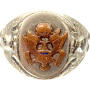 WWII U.S. Army Sterling Silver Military Ring