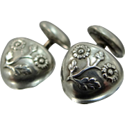 Art Deco Sterling Silver Cuff Links Cufflinks