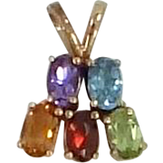 10k Gold Gemstones Pendant